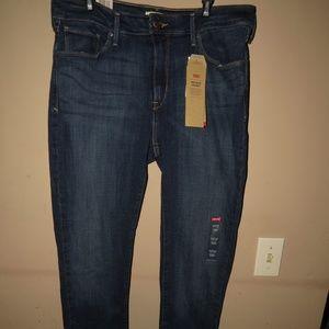 Women LEVI Pants Mid Rise Skinny 14 Medium 32x32